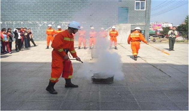 蓝盾公司消防训练